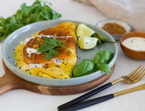 Ayurvedisches Kichererbsen-Omelett